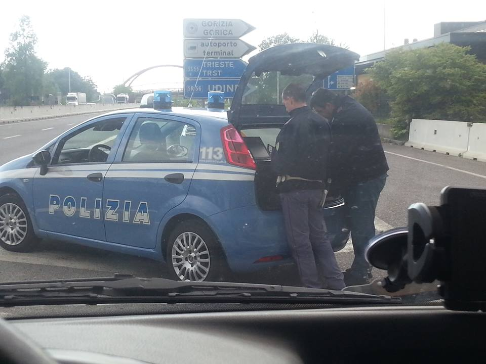 Controle police Italie
