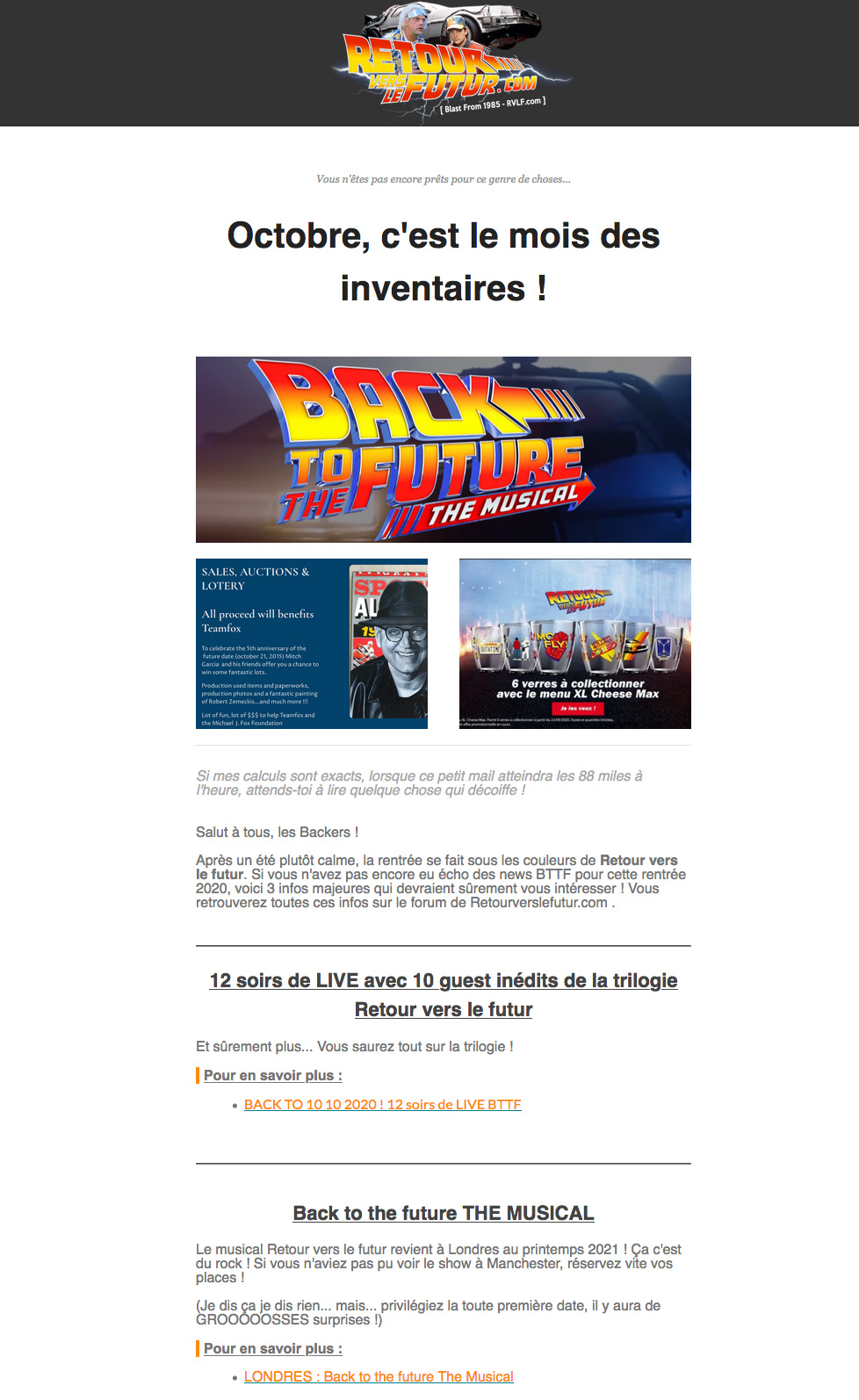 Newsletter RVLF exemple